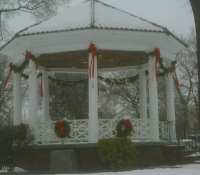 Snow Covered Victorian Gazebo, Westwood, NJ