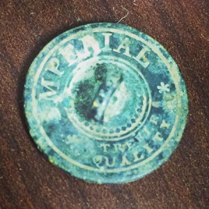 Most buttons from the 1800s had what is called a back mark (maker's mark). Hours of online research have found no other examples of this exact button! I doubt it's one of a kind, but I'll call it that until I see another.